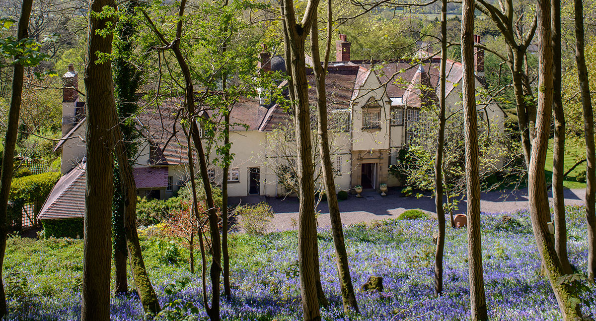 Fauhope House from Bluebell Wood