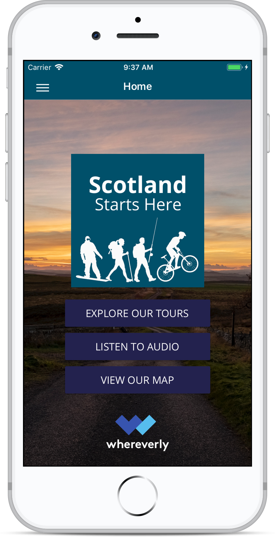 Scotland Starts Here Screen